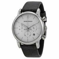 Emporio Armani AR1810 Black Leather Chronograph Mens Watch