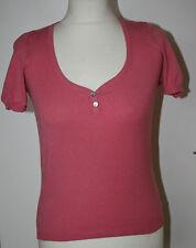 LK Bennett Small UK8-10 EU36-38 US4-6 pink short-sleeved scoop neck jumper