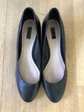 Women's RMK Black Leather Wedges Size 10 NEW