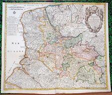 XVIII ème - Artois Superbe Carte par Matthäus Seutter 59 x 51 cm  Editée en 1750