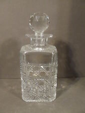 EDINBURGH SCOTLAND CUT CRYSTAL WHISKEY SPIRIT LIQUOR DECANTER