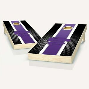 Kansas State Wildcats Striped NCAA Cornhole Boards - The Perfect Christmas Gift