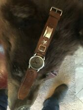 Fritch Bros Leather Watch strap and Frederic Remington Watch 10K and Sterling