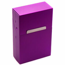 Classic Metal Cigarette Tobacco Purple Case Unisex Pocket Box Holder Great Gift