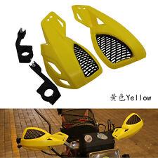 """Yellow 22MM 7/8"""" 1 1/8"""" Motorcycle Handguard for Kawasaki KDX220R KDX250 KDX400"""