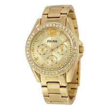 Fossil Riley Multi-Function Champagne Dial Ladies Watch ES3203