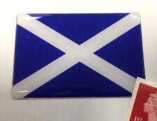 Scottish Saltire Flag Sticker Super Shiny Domed Finish 64mm Scotland