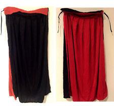 Kids Black Cloak Halloween Cape Vampire Witch Wizard School Fancy Dress Costume