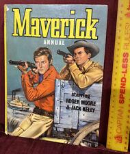 VINTAGE 1962 MAVERICK WILD WEST TV  SERIES COWBOY DELL COMIC BOOK ANNUAL VGC!!