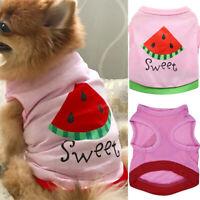 Cute Watermelon Pattern Small Pet Dog Cat Summer Vest Puppy T-Shirt Clothes Coat