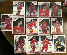 1985-86   O-Pee-Chee  DETROIT RED WINGS 13 card team  lot