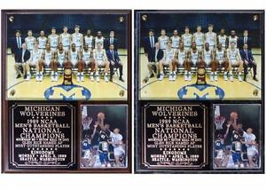 Michigan Wolverines 1989 Men's Basketball National Champions Photo Plaque