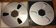 "Pre-Owned REVOX 10 1/2"" Metal Tape Reel to Reel for 1/4 **PAIR**"