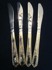 SET 4 DINNER KNIVES! Vintage PREMIERE stainless: made in GERMANY: excellent!
