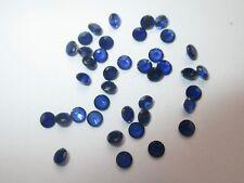 3 synthetische Steine 3,0mm Spinell - Blau S113 Corundum Korund Mohshärte 8