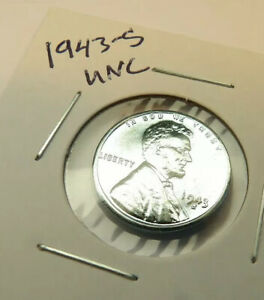 1943-S Lincoln Wheat Penny Cent UNCIRCULATED Coin + FREE SHIPPING
