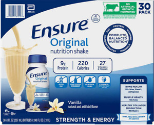Ensure Original Nutrition Shake, 8 fl. oz, 30-pack, Vanilla (SALE)