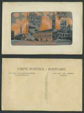 More details for ww1 woven silk old postcard martyr belgium ypres bombardment fire ruins military