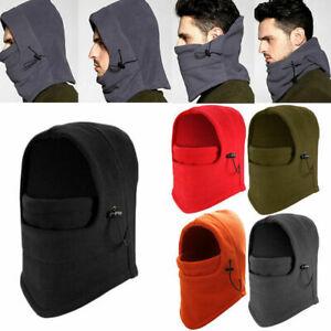 Unisex Winter Warm Snood Fleece Men Scarf Hood Neck Face Mask Cycling Ski Hat RF
