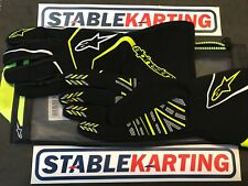 Go Kart - Alpinestars - TECH 1-K RACE GLOVE-BLACK/FLURO YELLOW-XLarge