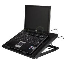 """USB 5 Fans LED 12-19"""" Laptop Cooling Cooler Adjustable Stand Anti-Slip Pad Rack"""