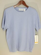 ALFRED DUNNER Women's Blouse / Sweater Light Blue Size S NWT