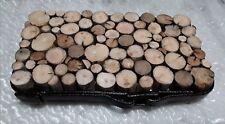 Dessous de plat artisanal,bois flotté,cerclage traverse SNCF