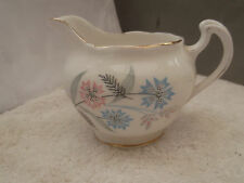 ROYAL VALE RIDGWAYS SHAPED MILK / CREAM JUG STYLISTIC FLORAL PATTERN