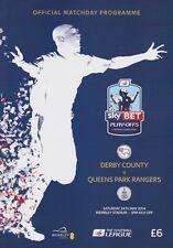 PLAY OFF FINAL 2014 DERBY v QPR CHAMPIONSHIP MINT PROGRAMME