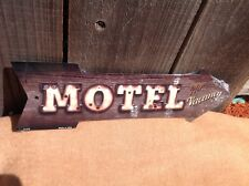 "Motel No Vacancy This Way To Arrow Sign Directional Novelty Metal 17"" x 5"""