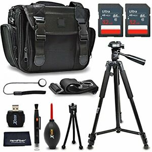 Xtech Accessories Kit for Nikon D5600 with 64GB Memory, Case, Tripod