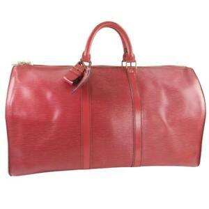 LOUIS VUITTON M42967 Kiepol 50 Boston bag Castilian red Red Epi Leather unisex