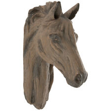Brown Carved Horse Head 3D Wall Decor