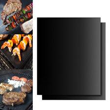 2PCS BBQ Grill Mat Teflon Reusable Sheet Resistant Non-Stick Barbecue Bake Meat