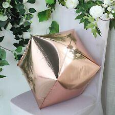"Rose Gold 14x14"" 4D Cube Mylar Foil Balloon Wedding Birthday Party Decorations"