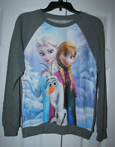 NWT Disney Frozen gray long sleeve lightweight sweatshirt (Women's, Junior M)