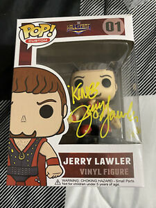 "Jerry ""The King"" Lawler Signed Hall of Fame Funko Pop w/COA - WWE NXT"