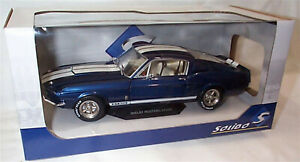 1967 Shelby Mustang GT500 Blue Solido 1-18 scale Diecast model new in box
