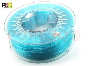 1 Kg x Premium Filament 3D Drucker PETG PET-G 1.75mm  Blau Transparent #A2511