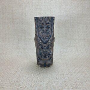 The Pineapple King Tiki Farm Mug 16 oz Brown stain Black Wash NIB