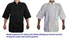 Rafael Unisex Cool Breeze Short Sleeve Double-Breasted Chef Coat Jacket Kitchen