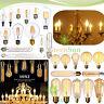 E27 E14 Vintage Edison COB LED Filament Lampada Lampadina Xmas Bulbo 2W 4W 6W 8W