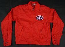 Vintage DON JAC STP Patch Nylon Windbreaker Jacket 90s NASCAR Motor Oil Red SZ S