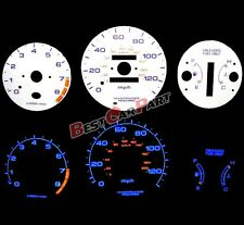 WHITE 96-00 Civic AT w/Tach RPM BLUE INDIGLO Reverse GLOW GAUGES