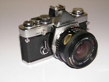 Vintage Olympus Om2 Slr 35mm Film Camera With Lens Manual Case - Retro Om-2 a2