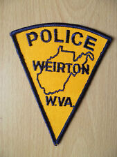 Patches: WEIRTONWEST VIRGINIA POLICE PATCH (NEW, apx. 5x4 inch)