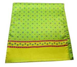 Men's Scarf Yellow Silk Made IN Italy Gala Opera Yellow and Green Acid Evening