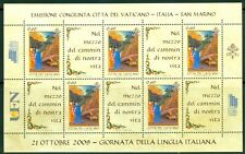 2009 Vatican City Sc# 1426: Italian Language Day MNH sheet