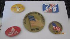 5 Vintage Bicentennial Buttons