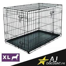Caisse de transport - Taille XL - 122x76x84 cm - Cage métallique pour chien chat